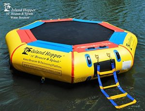 "island Hopper 10""best water trampoline reviews"