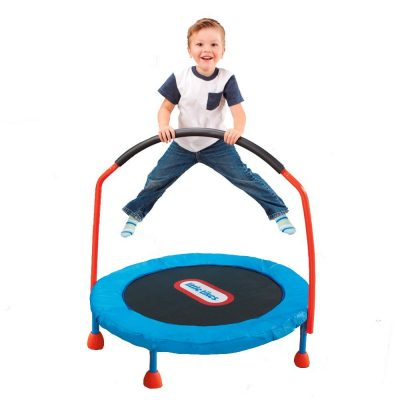 toddler trampolines with bar
