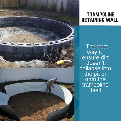 In Ground Trampoline Installing A Sunken Cost Reviews
