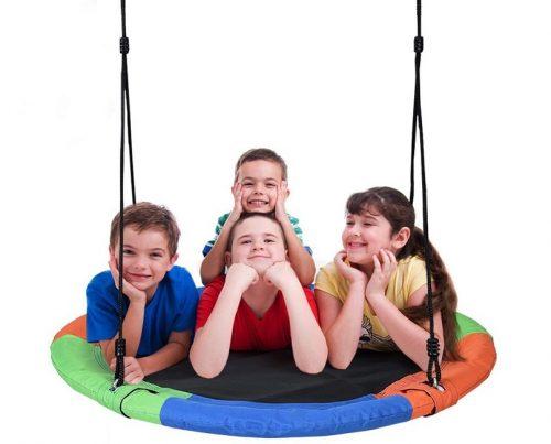 trampoline swing kids
