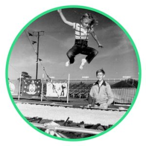 trampoline history kids 1950s