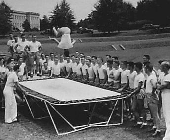 trampoline in world war II