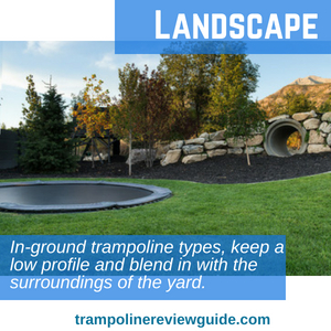 Above ground trampoline landscape ideas