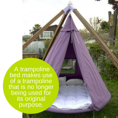 how to make a trampoline bed