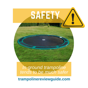 low to the ground trampoline